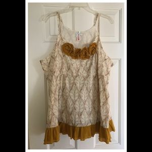 Downeast embroidered linen tank